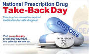 National Prescription Drug Take-Back Day 4/27/19 10a-2p